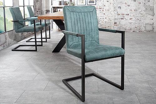Chaise luge design Bristol vintage vert 92 cm