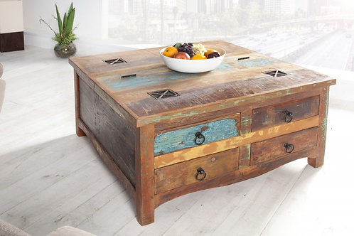 Table basse Jakarta 70cm bois recyclé