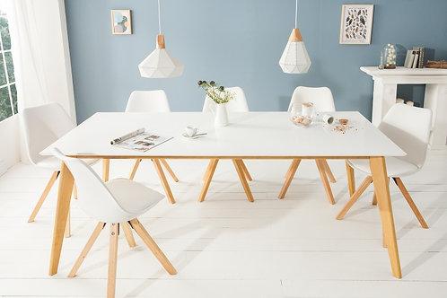 Table à manger design Scandinavie 200cm blanc
