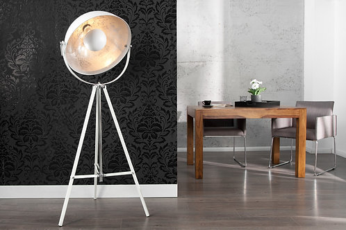 Lampadaire design Studio blanc/argent