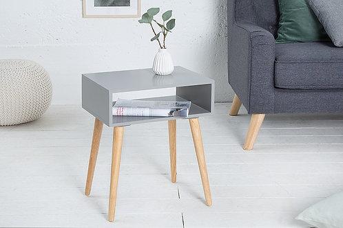 Table d'appoint design Sandinavia avec rangement en bois chêne/gris 51 cm
