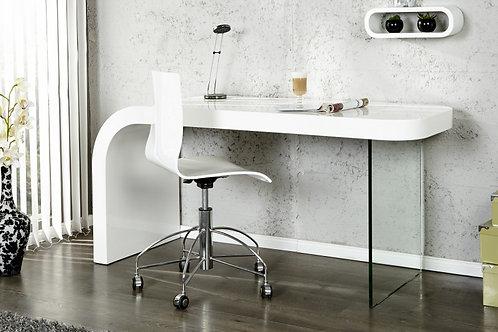 Bureau design Onyx 140cm blanc