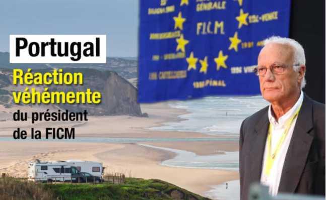 PORTUGAL : LA RÉACTION OUTRÉE DU PRÉSIDENT DE LA FICM AU SUJET DU TRAÇAGE DES CAMPING-CARS