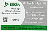 Carte de visite DEKRA CHATEAU ARNOUX 001