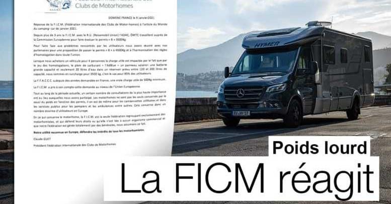 CAMPING-CARS POIDS LOURD ET PERMIS B : LA FICM MET « LES POINTS SUR LES I »