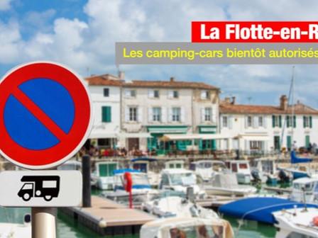 Interdiction des camping-cars : le maire de La Flotte-en-Ré veut régulariser la situation