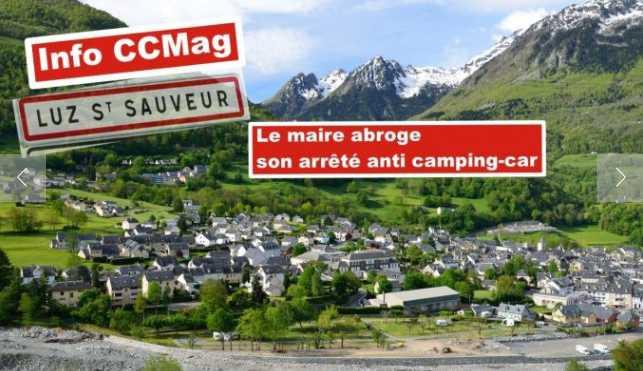 Luz-Saint-Sauveur (65120) retire son arrêté anti-camping-car