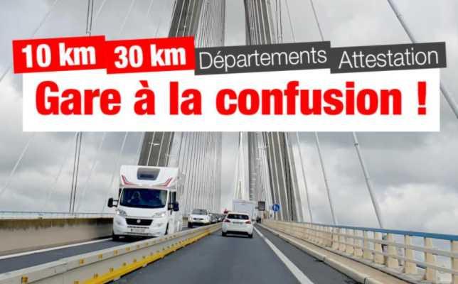 10 KM OU 30 KM : ATTENTION À LA CONFUSION POUR VOS DÉPLACEMENTS AVEC OU SANS ATTESTATION
