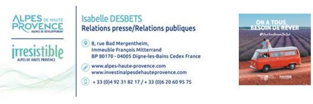 Communiqué des relations presse et publiques d'Alpes de Haute Provence