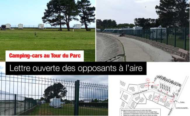LE TOUR-DU-PARC (56370) : LES OPPOSANTS À L'AIRE S'EXPLIQUENT, ET TACLENT CAMPING-CAR PARK