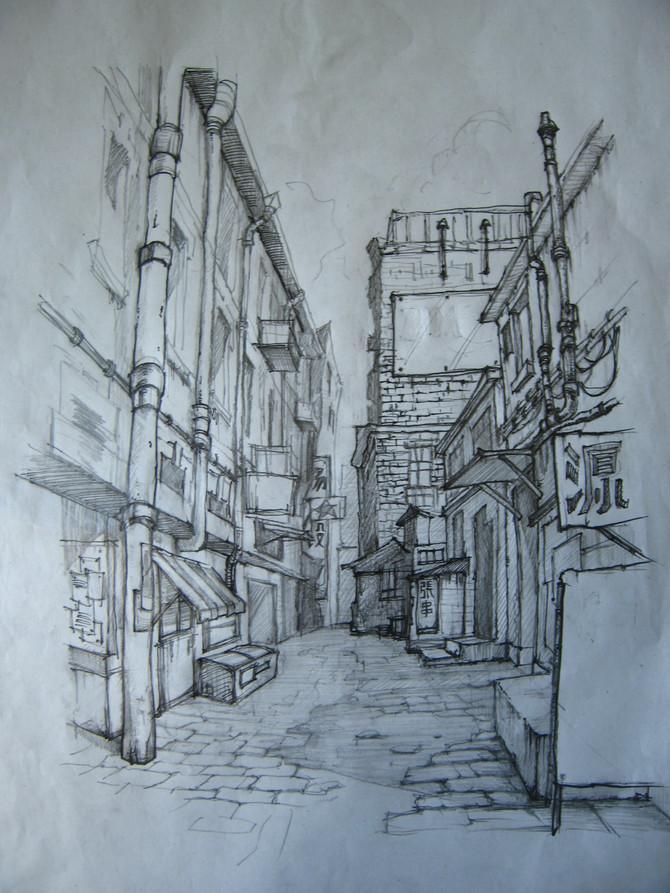 Artist pencil sketch