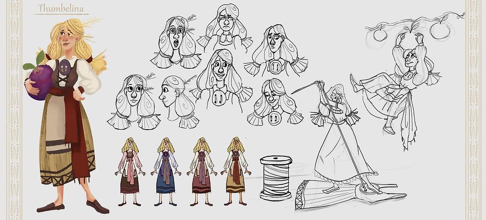 The main Character - Thumbelina