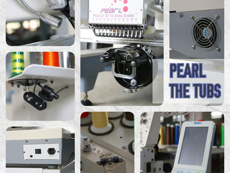 PEARL - The Tubs. Tubular Embroidery Machines