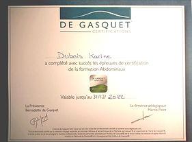 certificat De gasquet - abdominaux