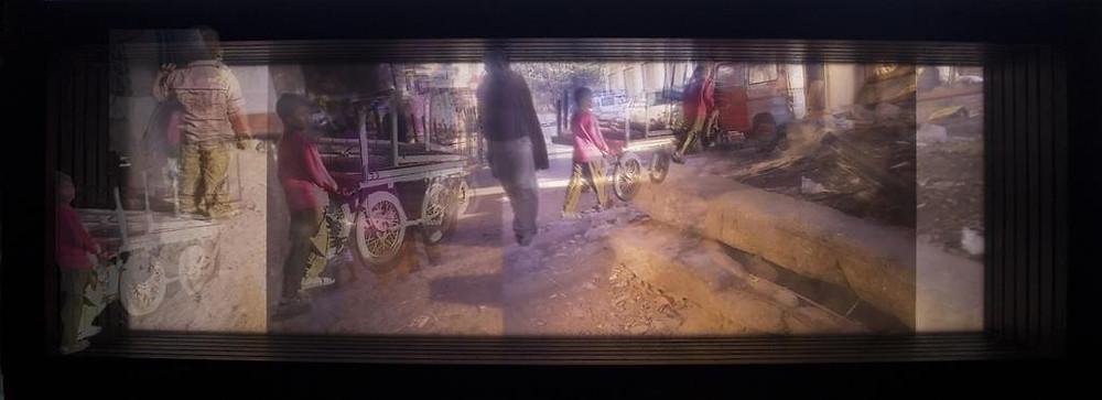 Jovita Alvares, Transient 3, Art technique - Print in blacklit frame