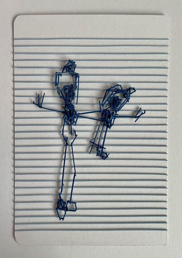 Tahira Noreen, Scribble I, Wasli on paper