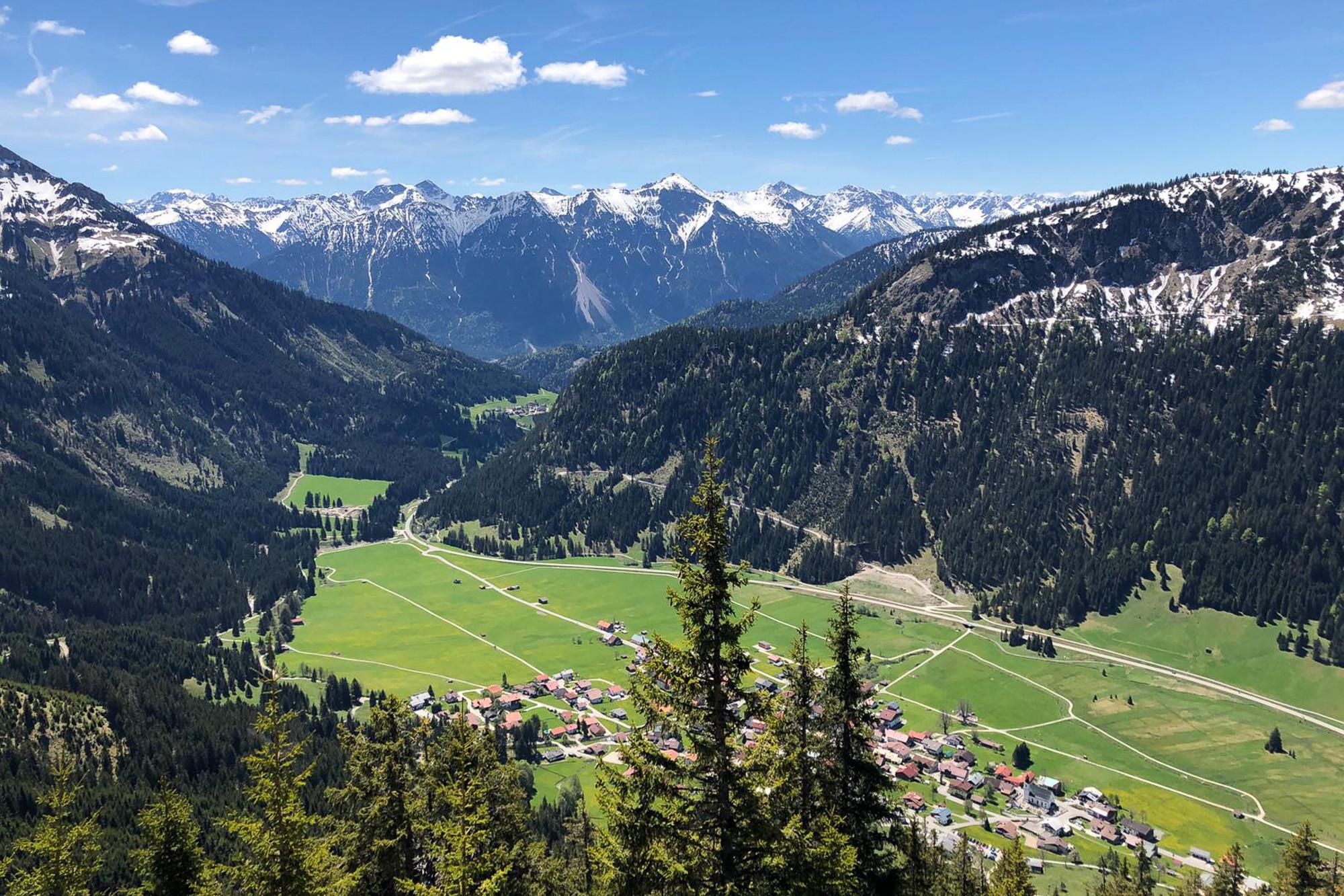Bergtoppen in de Tannheimer Bergen