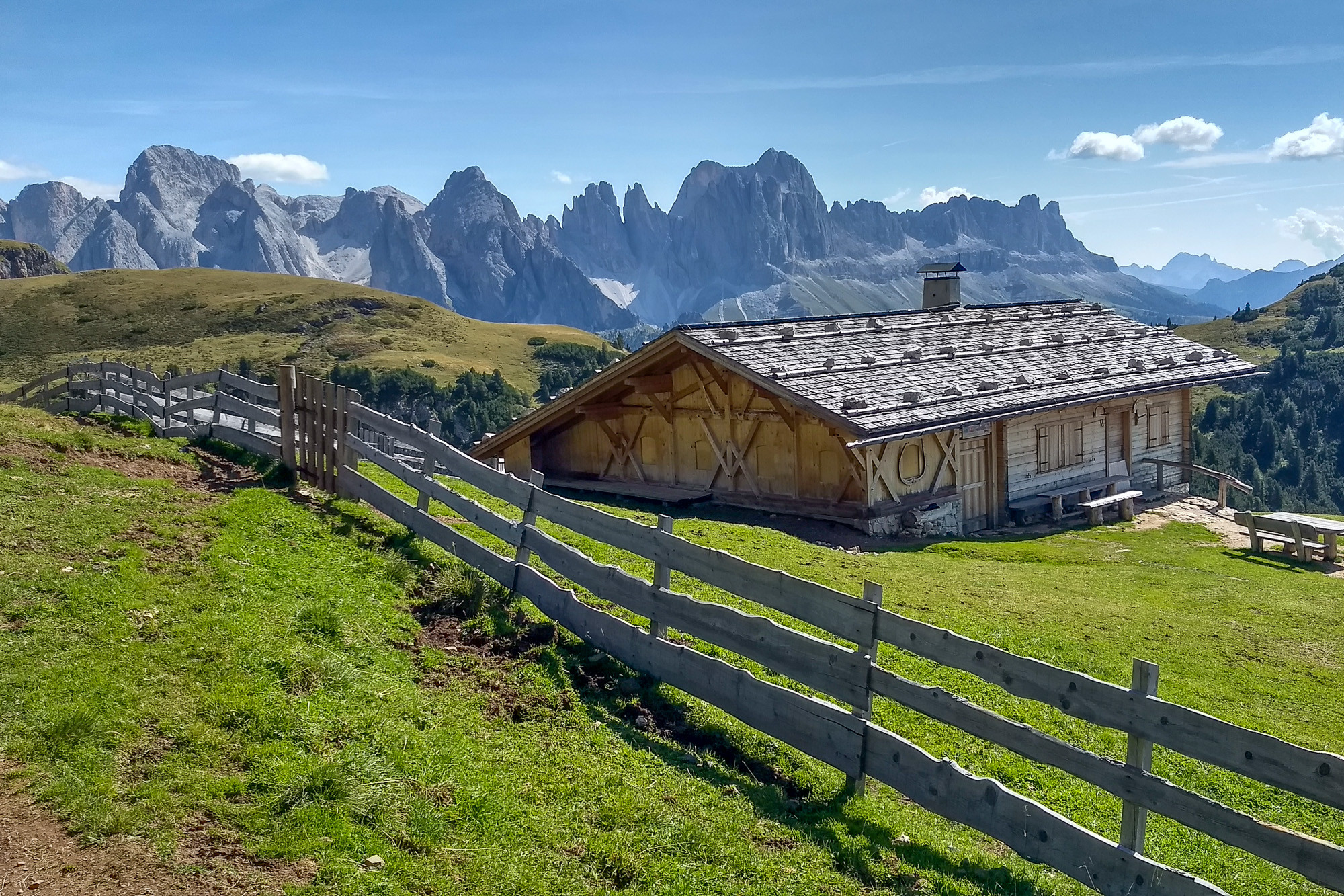 Karakteristieke Hutten in de Dolomieten