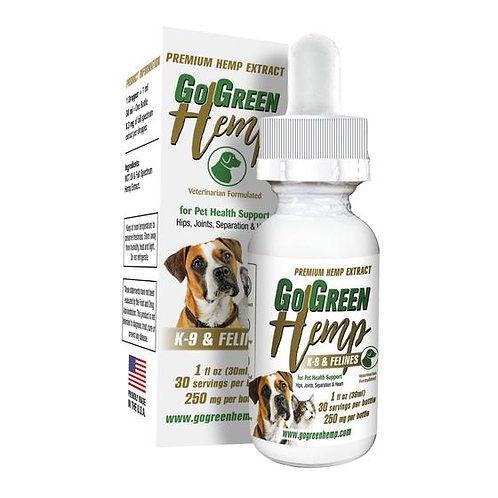 CBD Dog and Cat Oil - 250mg per bottle