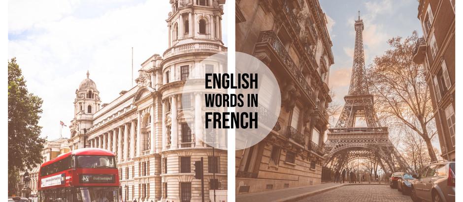 5 mots anglais mal employés en français