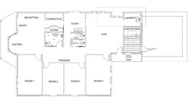Ground Floor Plan Drafting