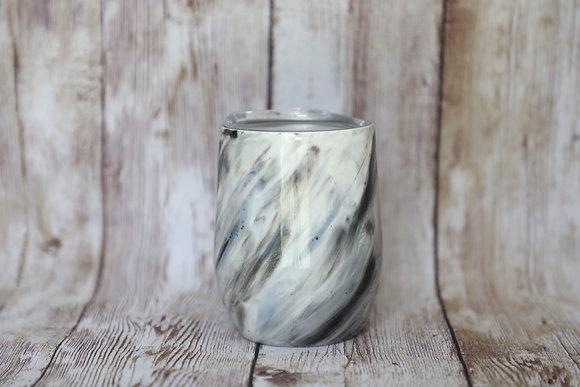 12oz marble wine glass