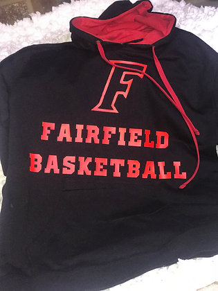 Custom Hoodie - Personalized Front/Back Fairfield Basketball