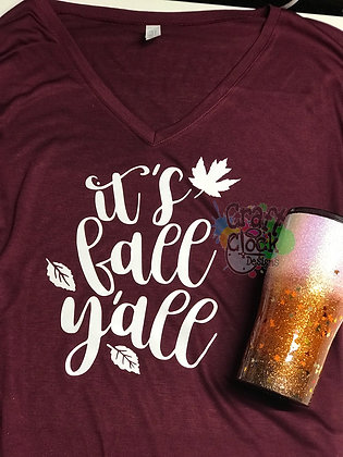 """It's Fall Y'all"" T-shirt"