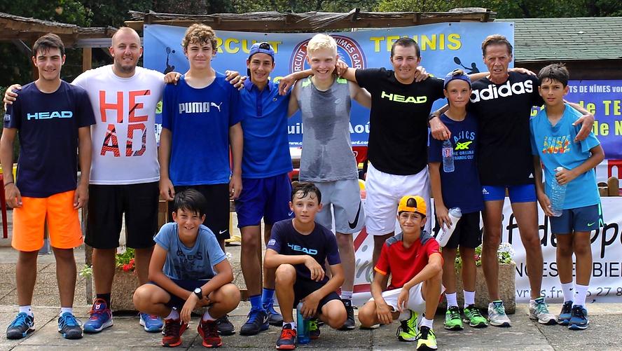 stage tennis groupe et coach