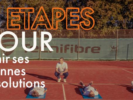HDN Academy, Sport études en académie, vous propose 5 étapes pour tenir vos bonnes résolutions