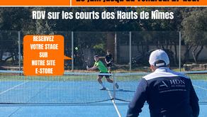 La HDN Academy se prépare à accueillir les stages tennis d'été 2021