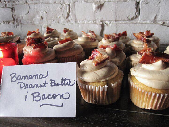 Banana Peanut Butter & Bacon Cupcake