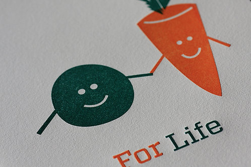 Peas & Carrots Card