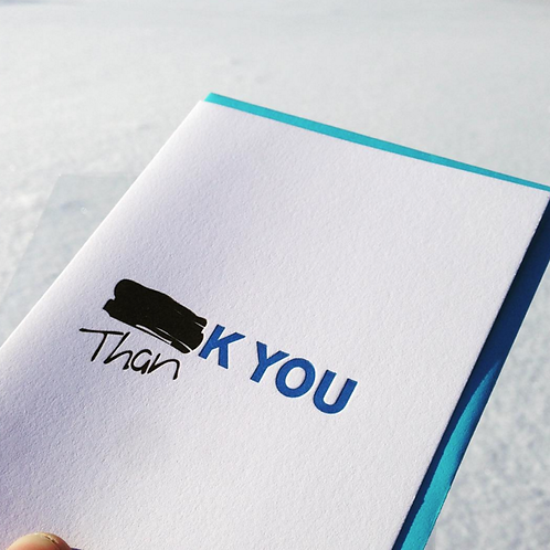 Redacted Thank You Card