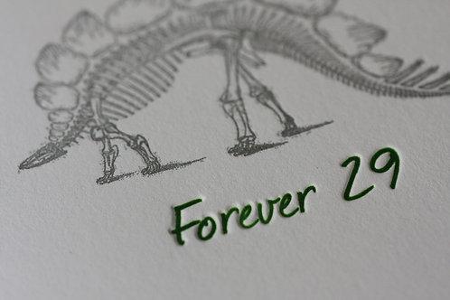 Forever 29 Birthday Card