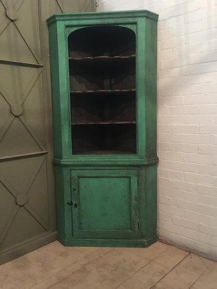 English Painted Corner Cupboard