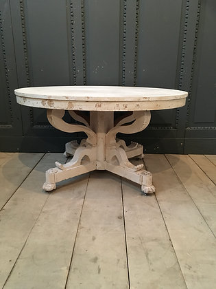 Danish painted oval center  Table c1850