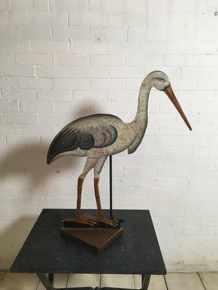 Painted Metal Heron c1920s