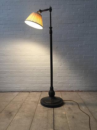 English Adjustable Bronze Reading Lamp c1910