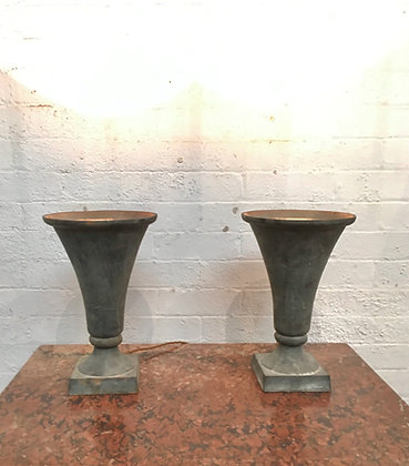 Pair Cast iron urn Lamps