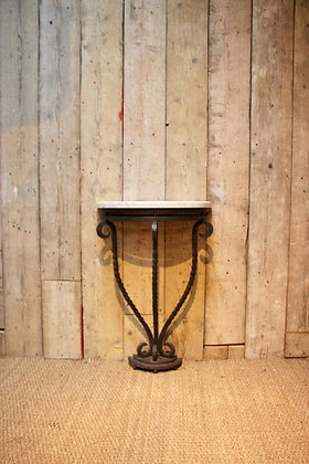 French wrought iron console table c1930s