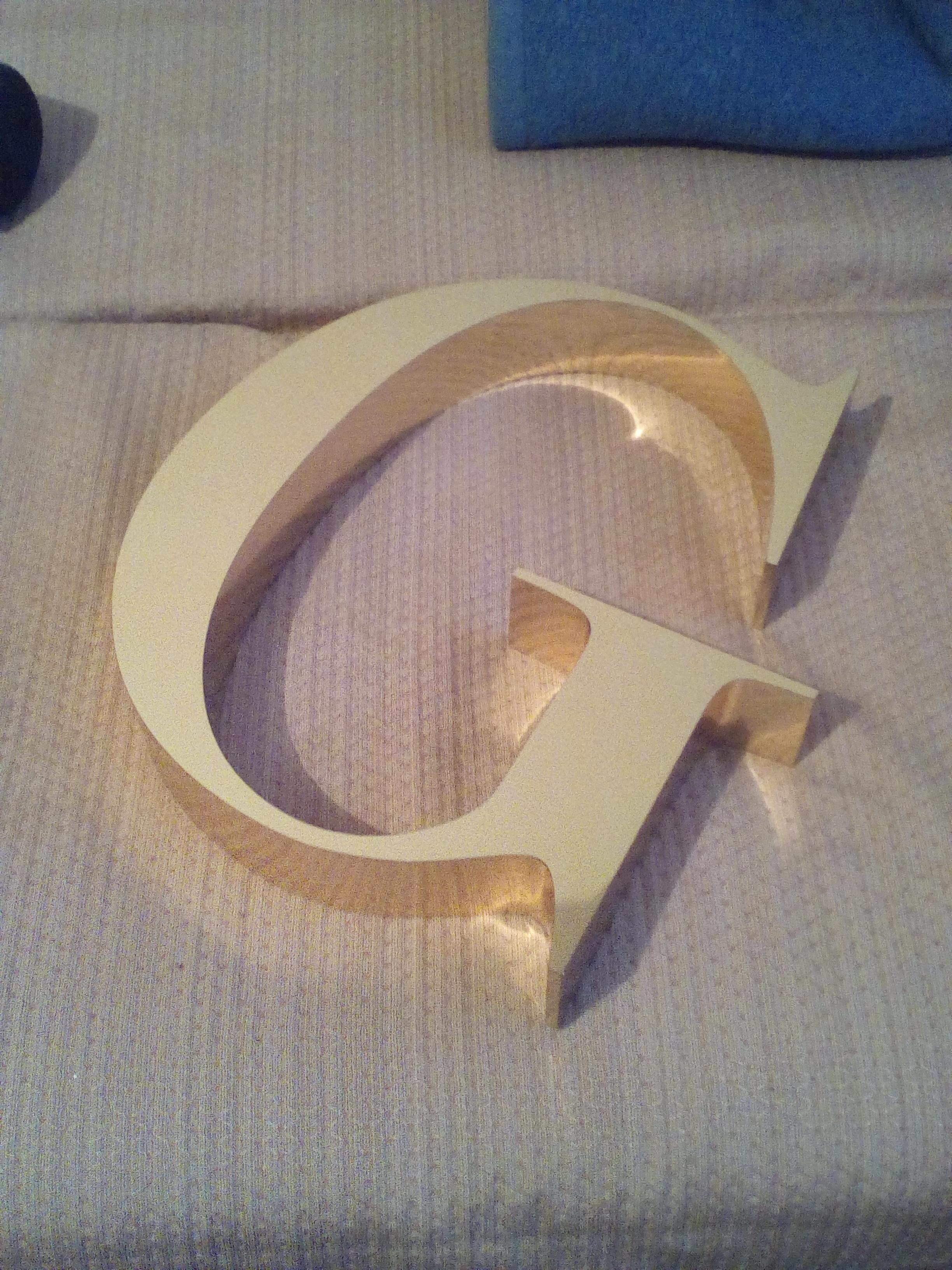 Объемные буквы золото