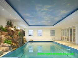 swimming pool sky print on a matt stretch ceiling uk.jpg