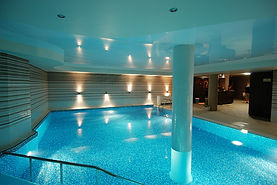 Swimming pool ceiling design  stretch ceiling