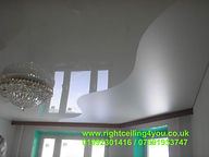 Gloss and satin stretch ceilings