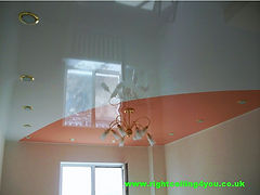 Gloss stretch  ceiling design