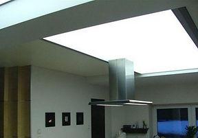 Translucent transparent stretch ceiling design