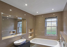 Bathroom stretch ceiling