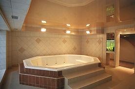 Stretch ceiling in spa