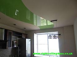 Green stretch ceiling